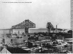 Flashback... 1929... Construction de la travée centrale du pont du Havre (aujourd'hui le pont Jacques-Cartier)