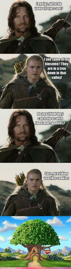 Elves of all sorts like cookies.