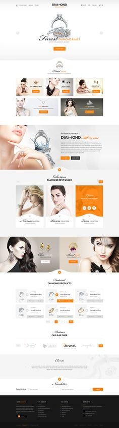 Diamond - PSD Template on Behance