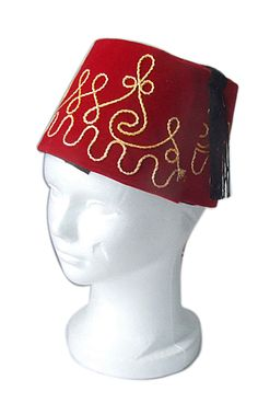 Ottoman Red FEZ - Istanbul Turkey http://www.smoking-hookah.com/hookah-culture/hookah-environment/red-fez-hat-import-istanbul-turkey-turkish-fes.html