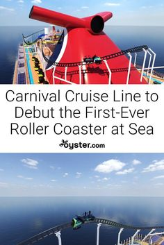 Carnival Cruise Line recently announced that it will be unveiling the first-ever roller coaster at sea on a brand-new ship. Canada Cruise, Alaska Cruise, Cruise Travel, Cruise Vacation, Vacation Packing, Caribbean Cruise Line, Cruise Pictures, How To Book A Cruise, Bahamas Cruise