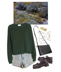 """pace"" by paper-freckles ❤ liked on Polyvore featuring American Apparel, Ganni and Dr. Martens"