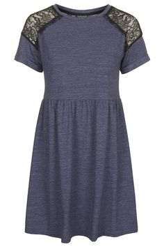 Lace Insert Flippy Dress - Topshop