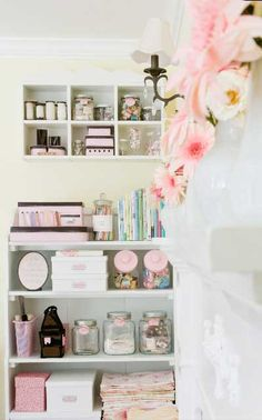 Pastel storage area - absolutely gorgeous!