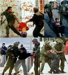 This is how Israel army treat Palestine children and you saying Israel victim ?