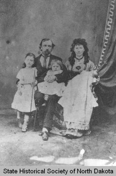 Dr. B. F.. and Linda Slaughter and children, Bismarck,North Dakota. He was a surgeon at Ft. Lincoln and later Bismarck..His wife was a suffragette and wrote articles for papers back east about life in the west.