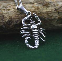 Scorpion Necklace Sterling Silver Scorpion by Alyssasdreams