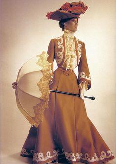 """""""Les Petite Dames"""" doll wearing a 1901 ensemble."""