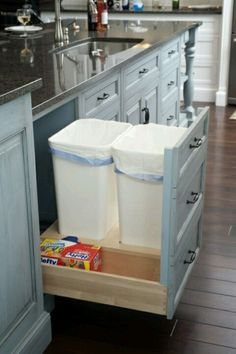 Hidden trash cans um, hello, I want this whole kitchen!