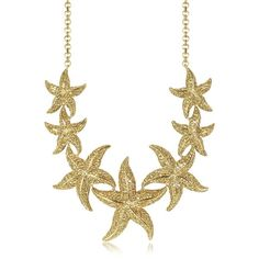 Roberto Cavalli Necklaces Sea Life Gold Tone Metal Star Fish Necklace... ($2,105) ❤ liked on Polyvore featuring jewelry, necklaces, golden jewelry, starfish necklace, roberto cavalli necklace, roberto cavalli jewelry and dangling jewelry