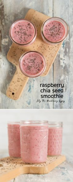 Raspberry Chia Smoothie Recipe - SO GOOD!! #HookedOnHomeChef #ad #recipe #healthy - made with ingredients delivered by @realhomechef :) YUM!!