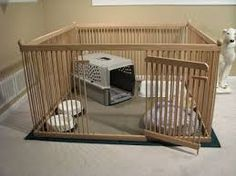 Furniture-quality Small Dog Exercise Pen - READY-to-FINISH Solid Red OAK, floor included. Nice product for other small animals too, like rabbits. Great for foster-care providers, puppies, etc. Labradoodle Breeders, Australian Labradoodle, Labradoodles, Puppy Pens, Red Oak Floors, Dog Pen, Dog Rooms, Puppy Care, Dog Houses
