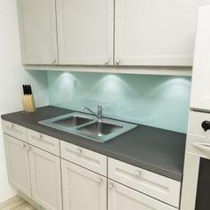 Küchenrückwand uni pastelltürkis