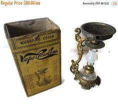 On Sale Antique 1800's Vapo Cresoline Vaporizer Lamp