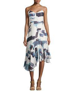 Oki Drop-Waist Asymmetric Dress by Tibi at Neiman Marcus.