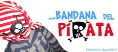 FIORI IN TESTA:la bandana del pirata