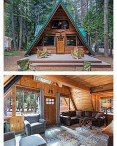 #Tahoma #California A-Frame Vacation Rental | More images @bookofcabins | Available on @homeaway - homeaway.com/vacation-rental/p611346vb #interiors #interiordesign #architecture #decoration #interior #home #design #camper #bookofcabins #homedecor...