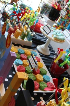 Sweet Simplicity Bakery: Mickey Mouse Clubhouse Dessert and Candy Buffet Table Display Mickey Mouse Desserts, Mickey Mouse Parties, Mickey Party, Disney Parties, Mickey Cakes, Elmo Party, Dinosaur Party, Dinosaur Birthday, Pirate Party