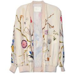 Tela Botanical Bomber Jacket ($565) ❤ liked on Polyvore