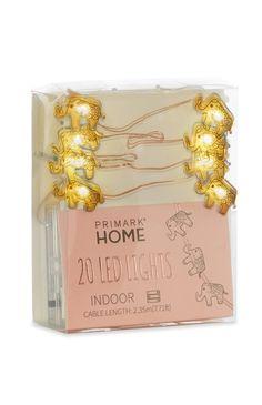 Primark - 20 Rose Gold Wire Elephants Lights