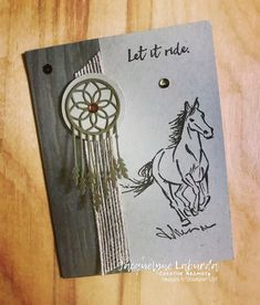Stampin' Up! Let it Ride stamp set and more! Horse Cards, Westerns, Stamping Up Cards, Animal Cards, Heart Cards, Handmade Birthday Cards, Card Maker, Masculine Cards, Card Tags