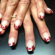 Canada day nails :)