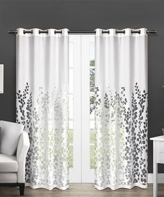 Loving this White Wilshire Burnout Sheer Curtain Panel - Set of Two on #zulily! #zulilyfinds