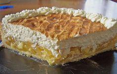 Zutaten 175 g Butter 160 g Zucker 200 g Mehl 1 TL Backpulver 1 Ei(er) 4 Äpfel (Boskop) 1/2 Liter Apfelsaft ...