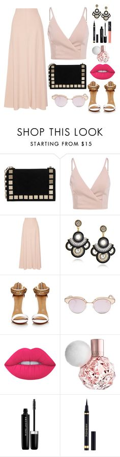"""Untitled #146"" by pehpalad on Polyvore featuring Tomasini, The Row, Le Specs, Lime Crime, Marc Jacobs, Yves Saint Laurent and NARS Cosmetics"