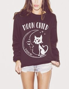 Hey, I found this really awesome Etsy listing at https://www.etsy.com/listing/258249678/moon-child-grunge-sweatshirt-unisex