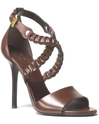 7fc29b9b7884 Michael Kors - Miriam  Leather Sandal - Lyst sandals high  heels outfit Hot  Heels