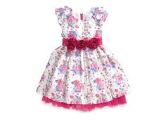 Nannette Little Girls' Swiss-Dot Floral Dress - Kids - Macy's