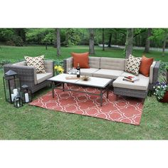 shop hanover outdoor furniture strathmere 6 piece wicker patio