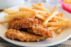 yum!! Chicken tenders and fries :)