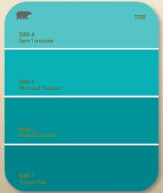 shades of teal Twentyfive bluegreen paint colors 5 each from