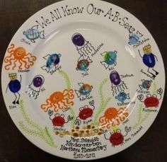 Thumbprint plate auction idea.