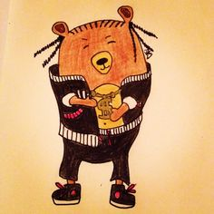 #mywork #illustration #bearcartoon #rapperbear
