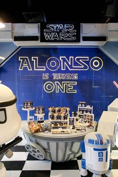 Alonso's Star Wars Birthday Party Happy Birthday Boy, Star Wars Birthday, Star Wars Party, Boy Birthday Parties, Birthday Celebration, Tema Star Wars, Party Themes For Boys, Death Star, S Star