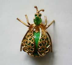 Lady Bug Beetle Pin with Marble Body - 3470 by OldCastleTreasures on Etsy https://www.etsy.com/listing/204209583/lady-bug-beetle-pin-with-marble-body