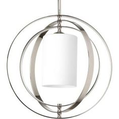 Progress Lighting, Equinox Collection 1-Light Polished Nickel Pendant, P7078-104 at The Home Depot - $200
