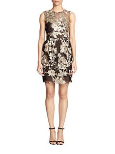 Marchesa Notte - Floral Embroidered Dress
