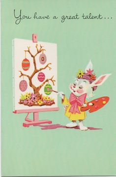 Joy christmas greeting card 1997 kendra barnholt leukemia patient used c1980s easter card you have a great talent for being nice m4hsunfo