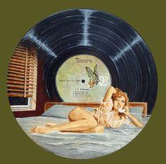 Jacques Puiseux - The Doors - L.A. Woman Vinyl Art sur boîte de St-Nectaire. Merci Jacques !