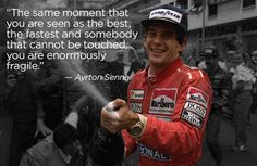 Why Ayrton Senna remains the greatest racer in history. #racing #formulaone #quote