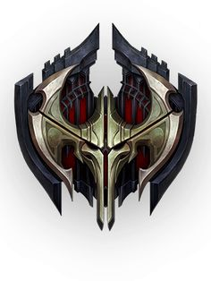Swain - Champions - Universe of League of Legends Lol League Of Legends, Shield Design, Tv Tropes, Game Icon, Fantasy Weapons, Crests, Coat Of Arms, Game Design, Cyberpunk