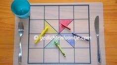 (Voordeel-)set van twee kunststof placemats met schilderij-ontwerp