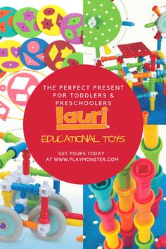 Looking for the perfect present for your toddler or preschooler? Look no further than Lauri Educational Toys. With toys that promote STEM, fine motor skills, problem-solving, develop concentration and promote quiet play, you can't go wrong! Shop Lauri Educational Toys today! Help Teaching, Kindergarten Classroom, Classic Toys, Toddler Preschool, Fine Motor Skills, Fun Learning, Educational Toys, Special Education, Problem Solving