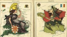 These 1868 Maps Of Europe Show That Entire Countries Can Look Like Humans