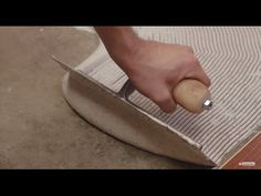 Installing a Prefinished, Engineered Hardwood Floor over Concrete - YouTube