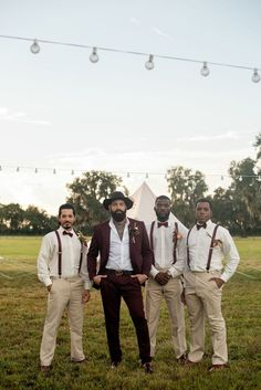 Groom and groomsmen at a glamping-themed, music festival-inspired wedding styled shoot at a rustic ranch venue. wedding groomsmen This Music Festival-Inspired Wedding Shoot Is the Most Fun Thing Ever Wedding Men, Wedding Suits, Wedding Shoot, Mens Wedding Style, Wedding Music, Beach Wedding Groom, Wedding Parties, Wedding Vows, Summer Wedding
